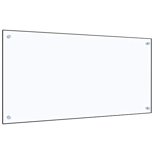 vidaXL Küchenrückwand Spritzschutz Fliesenspiegel Glasplatte Rückwand Herdspritzschutz Wandschutz Herd Küche Transparent 100x50cm Hartglas