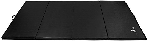 Alpha Mats Folding Gymnastics and Exercise Mat for Aerobics, Yoga, Martial Arts - 4 x 8 Feet, Light...