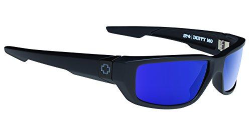 Spy Optics Dirty MO Matte Wrap Polarized Sunglasses,Black,60 mm