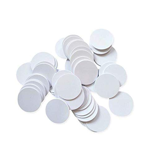 QINISH 30PCS NFC Ntag 215 NFC Cards Round 25mm(1 inch) NFC Ntag215 Tags Blank 100% Compatible with Tagmo Amiibo and NFC-Enabled Devices (30PCS)