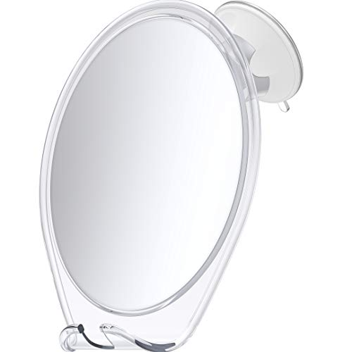 HoneyBull Shower Mirror for Shaving Fogless - with Suction, Razor Holder for Shower & Swivel, Mirrors, Shower Accessories, Bathroom Mirror, Fogless Mirror for Shower