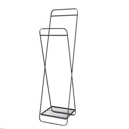 Household Hacker Rack Floor Covering Bedroom Hare Frame Indoor Bipolar Small Drying Frame (black + White) (Color : Black)