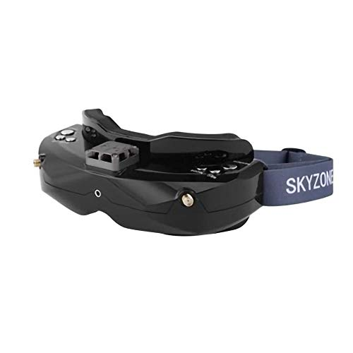 SKYZONE SKY02X 48CH Diversity FPV Goggles Support 2D/3D HDMI Head Tracking with Fan DVR Front Camera for RC Racing Drone (Black)
