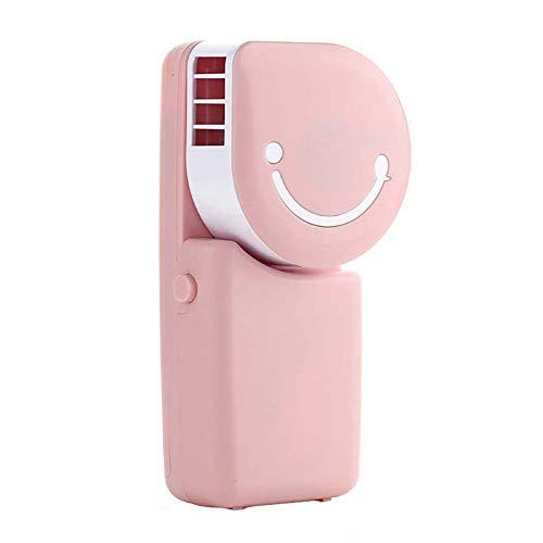 N/ Chytaii. Klimaanlage Ventilator Mini Smiley-Gesicht Handheld Ventilator Tragbare USB Aufladen Lüfter Taschenwassergekühlter Klimaanlagenlüfter Für Zuhause Büro Reisen (Rosa)