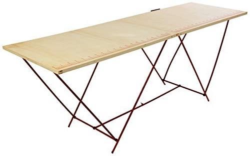 TABLE A TAPISSER TAPISSIER PRO PLIABLE PLIANTE BOIS PIEDS METAL VALISE 2M