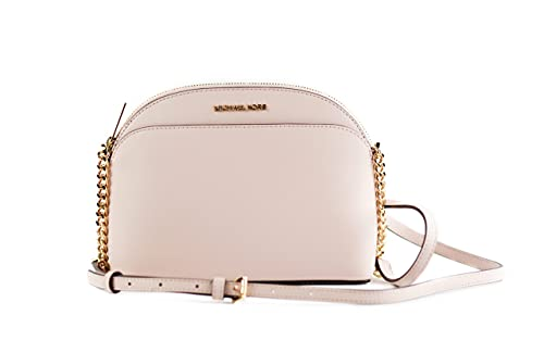 Saffiano leather with gold tone hardware
