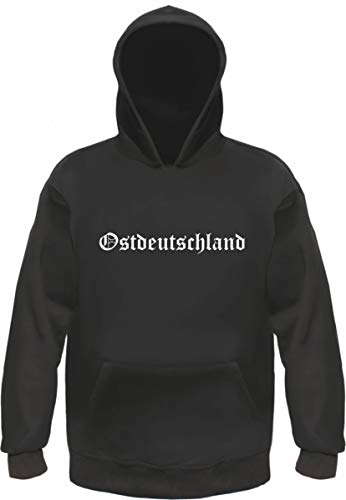 Ostdeutschland Kapuzensweatshirt - Altdeutsch - Bedruckt - Hoodie Kapuzenpullover M Schwarz