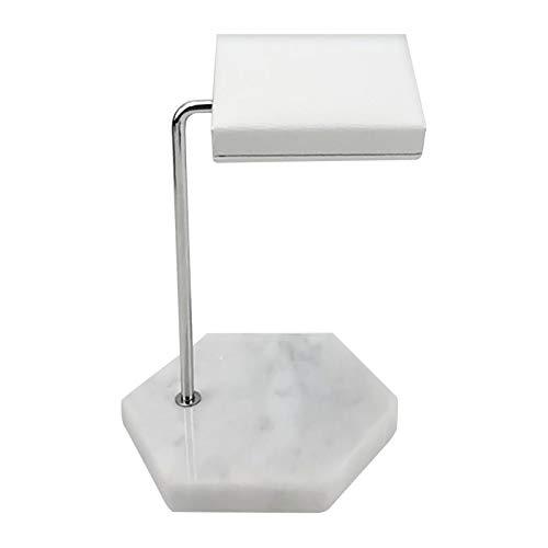 Bonarty Durable Elegante del Organizador del Tenedor del Estante del Soporte de Exhibición del Reloj de La Joyería de Mármol - Hexagonal Blanco B