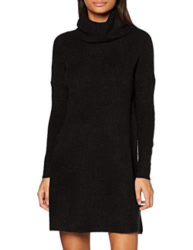 ONLY Damen Strickkleid Jana Mini-Kleid mit Rollkragen 15140166 Black L