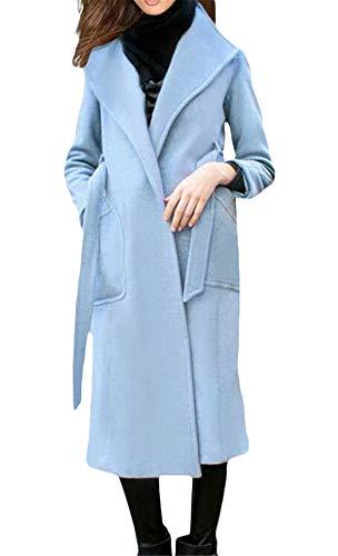 GRMO Women - Abrigo - para Mujer Azul Azul Celeste US L