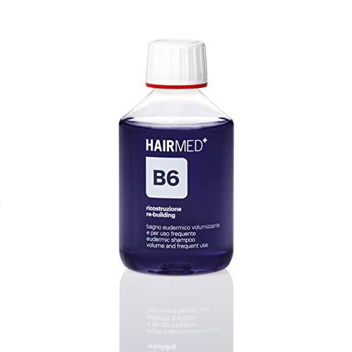HAIRMED, B6 Shampoo Volumizzante Capelli Fini, Shampoo Keratina, Ristrutturante Capelli Professionale, Cheratina per Capelli 200 ml