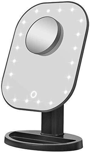 Espejos Tocador Maquillaje Espejo con luz Luz / LED el espejo / Espejo de baño con las luces / 10 aumentos Ronda espejo de aumento con luz LED iluminado del espejo cosmético con las luces de Escritori
