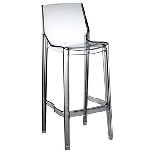 ☀ JBD Moderne Simple Mode Creative Bar Chaise Transparent Haut Tabouret Pied Café Comptoir Personnalité Loisir Siège (Couleur : Transparent, Taille : 65cm Seat High)
