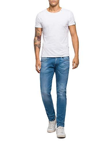 REPLAY Anbass Vaqueros Slim, Azul (Light Blue 10), W28/L34 (Talla del Fabricante: 28) para Hombre