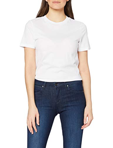 SELECTED FEMME SFMY Perfect SS Tee-Box Cut Noos T-Shirt, Bianco (Bright White), M Donna