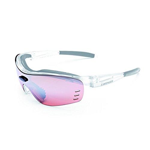 WENGER X-Kross Sportbrille OF1008.01 Cristall Silver/Black Lens Bike Active red
