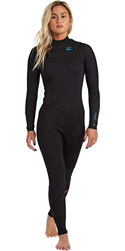 BILLABONG Damen Synergy 5/4mm Chest Zip 5/4mm GBS Neoprenanzug - Schwarz - Thermal Warm Heat Layer Schichten Easy Stretch