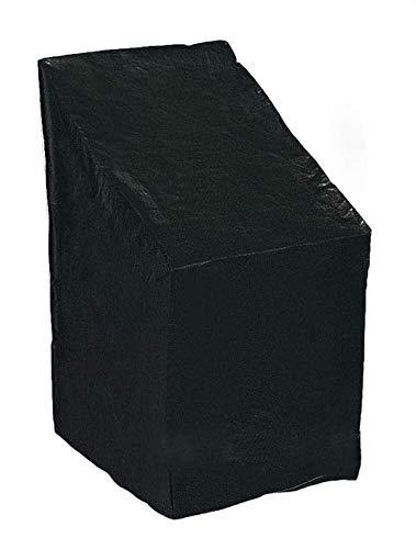 Funda para silla apilable para patio Fundas para silla mecedora de jardín a prueba de agua 68 * 68 * 72CM Fundas para muebles de patio Funda protectora grande para exterior para asientos profundos Neg