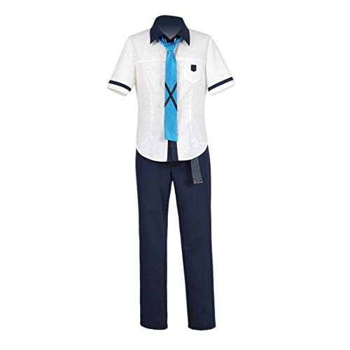 YYFS Anime Cosplay Disfraz Halloween Adulto Fancy Dress Party, Uniforme de Fiesta, Top Blanco de Manga Corta y Pantalones Versin Personalizada para Hombre,Men's Size-One Size