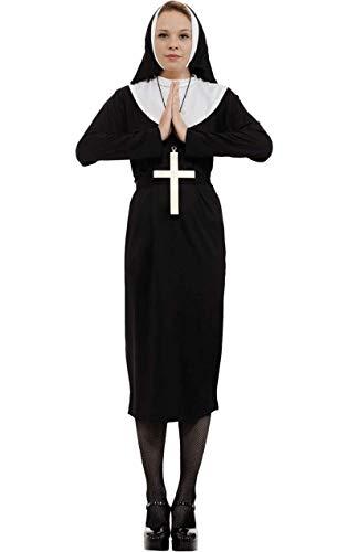 ORION COSTUMES Damen Schwarzes Nonnenkleid Maskenkostüm