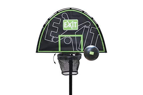 EXIT Trampolin Basket Basketballkorb mit Rückwand für Exit Trampoline inkl. Schaumstoffball - Farbe: schwarz-grün - Gewicht: 1kg