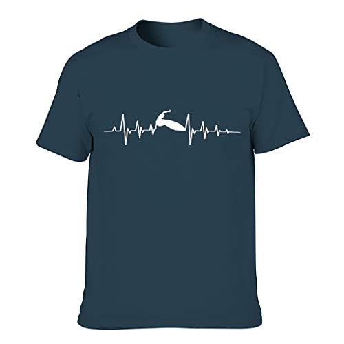 Chicici Fashion Surf Heart Pulse Camisetas para hombres Funny Humor Wear