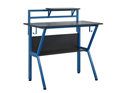 Virtuoso Gaming Power On Gaming Desk, Wood, Blue, Large
