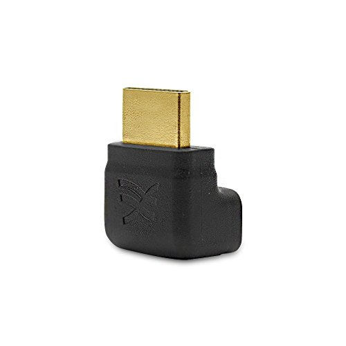 Cablesson Basic 90 Degree Right Angled HDMI Male to Female Adapter Connector Cable - 1080p, 3D, High Speed with Gold Plated connectors/avoiding Bending HDMI Cables and Relieve The Strain on HDMI