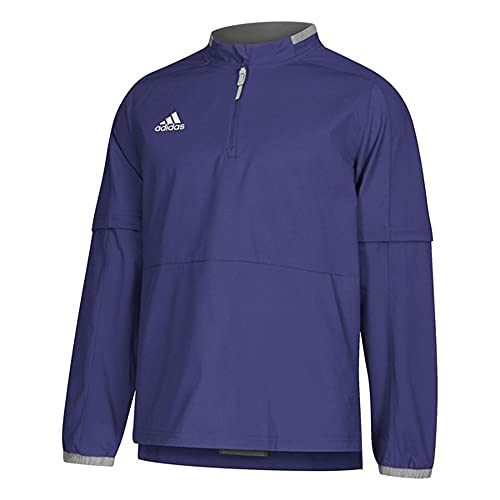 adidas Fielder's Choice 2.0 Convertible Jacket Men's Baseball XL Collegiate Purple-Core Heather
