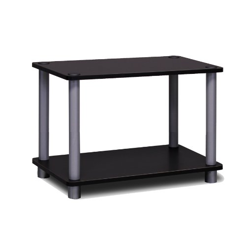 Furinno Turn-N 2-Tier No Tools Tube Shelf/End Table, Single,...