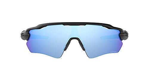 Oakley Men's OO9208 Radar EV Path Shield Sunglasses, Matte Black/Prizm Deep H2O Polarized, 38 mm