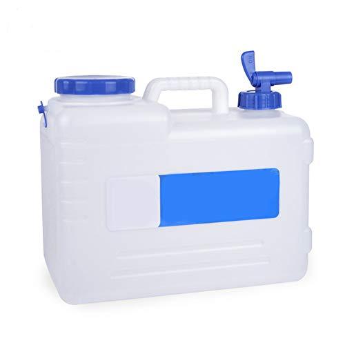 Demarkt – Bidón de Agua portátil para Coche, 15 L, Tanque de Agua con Grifo Fijo, Color Blanco