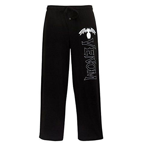 SuperHeroStuff Calça de pijama masculina com logotipo da Venom Comic, Preto, XG