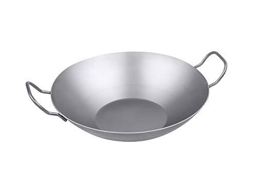 chg Wok | asiatische Eisenpfanne | 2 Griffe | Durchmesser 30,5 cm | alle Herdarten | Grill geeignet