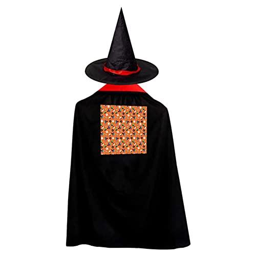 Disfraz de donut de Halloween para nios, disfraz de bruja con sombrero, capa para nios y nias, disfraz de fiesta de cosplay