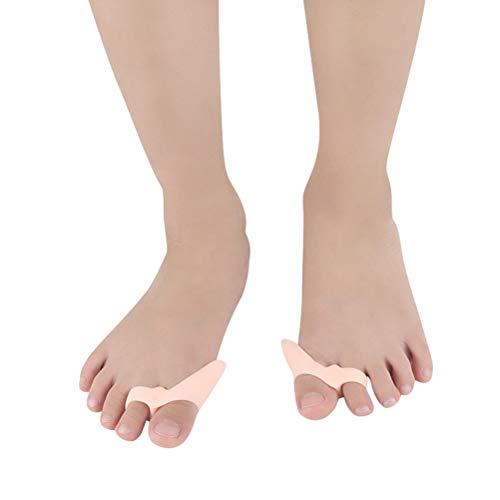 Healifty 1 paire Gel Oignon Correcteur orteil protecteurs orteil Lisseur Seperators Dissipateur thermique pour enfants (Rose)