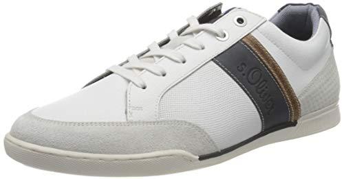 s.Oliver Męskie buty na łódź 5-5-13619-26, biały - biały - 42 EU