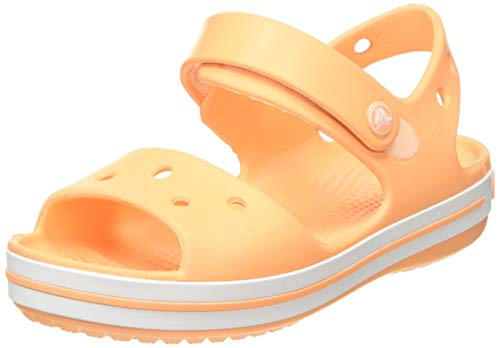 crocs Unisex-Kinder Crocband Kids Outdoor Sandals, Orange(Cantaloupe), C8 (24/25EU)