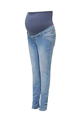 ESPRIT Maternity Damen Pants Denim OTB Skinny Umstandsjeans, Blau (Lightwash 950), W30/L34 (Herstellergröße: 38/34)