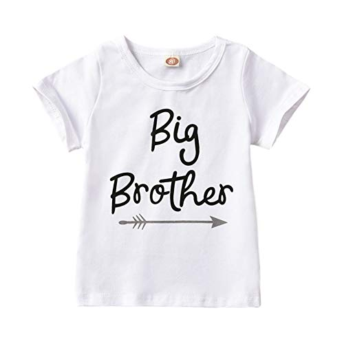 Loveablely Little Sister Big Brother Matching Pagliaccetto T-Shirt Body Outfit Vestiti