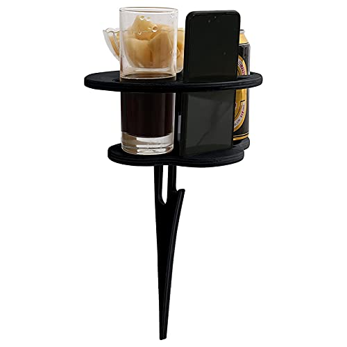 Outdoor Portable Wine Table Folding Wine Table Snack Cheese Holder Tray Wine Glass Rack For Wall Refrigerator Cabinet Fridge Insert Countertop Shelf Kitchen