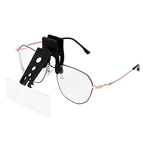 Lupe mit drei verschiedenen Vergrößerungen – 1,5 x 2,5 x 3,5 x – kann auf die Brillen befestigt werden, Präzisionsinstrument, ideal für chirurgische Reparatur, Lesen, Schmuck und Basteln
