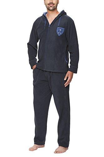 SLOUCHER Fleece-Anzug für Herren, Farbe:Navy, Größe:XL