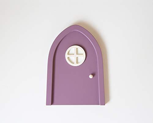 Violette Elfentür fürs Kinderzimmer mit Leuchteffekt im Türfenster