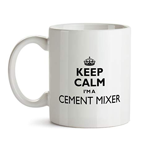 Cement Mixer Gift Mug - Keep Calm Best Ever Coffee Cup Colleague Co-Worker Thank You Appreciation Present