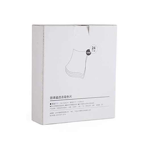 LEVEL GREAT 24 Blatt/Box Startseite Wäscherei Anti-Färben saugfähiges Papier Waschmaschine Wäsche saugfähiges Tuch Stoff Farbe Grabber Cloth