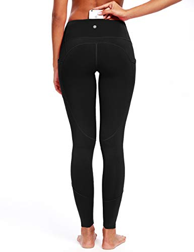 QUEENIEKE Women Workout Leggings Sports Pants Zoned Compression Running Tights Size M Color Black