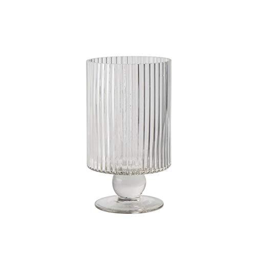 AFQHJ Glazen vazen, tafel arrangement, grote mond watercultuur moderne vazen, optionele maten, transparante vaas