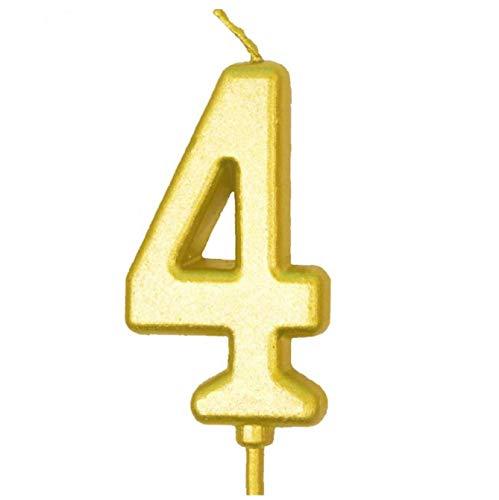 TOPofly Número de cumpleaños Torta de la Vela Velas Numeral Torta de la Tapa de Decration para la celebración del cumpleaños número 0-9