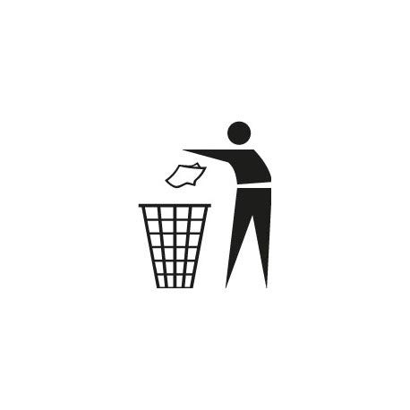Stickers voor afvalscheiding en afvalscheiding, 2 stickers, zelfklevend, grootte: 4 cm, kleur: blauw